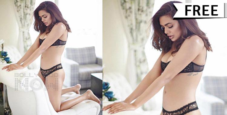 Esha Gupta Hot Lingerie Nude Photoshoot